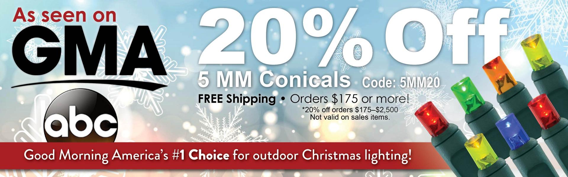 20% Off Conicals
