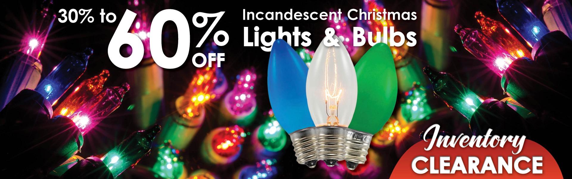 Incandescent Christmas Light Sale