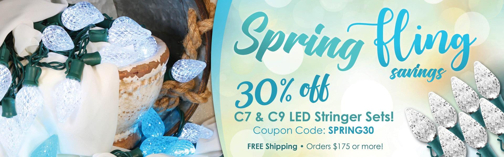 Shop Now! Save 30% on C9 Stringer Sets.