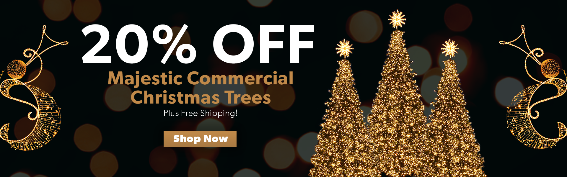 20% Off Commercial Christmas Trees Plus Free Shipping