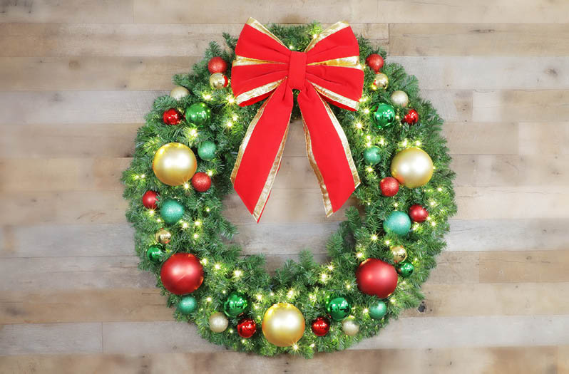 LED Christmas Lights Christmas Trees Christmas Designers - Christmas Wreath Lights