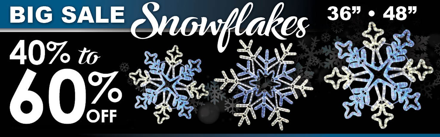 40-60% Off LED Snowflakes