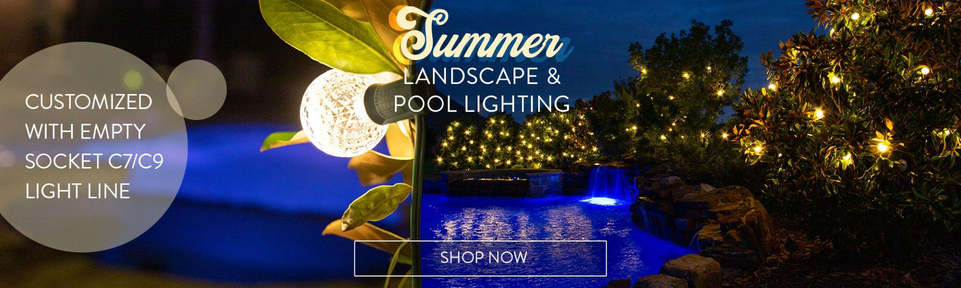 Summer Landscape and Pool Lighting