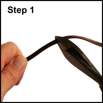 Step Cut the Zip Cord