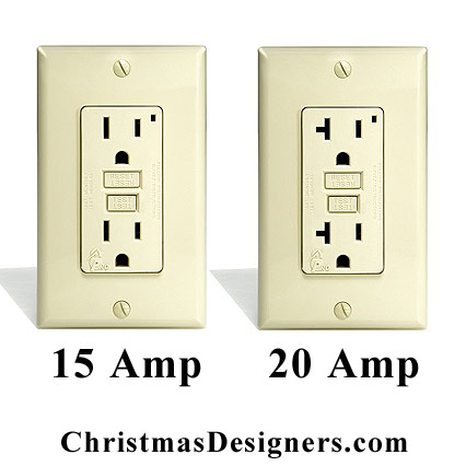 15 Amp and 20 Amp Outlet Side By Side.