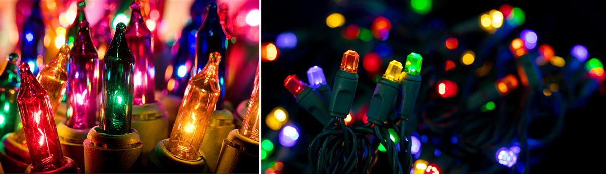 incandescent vs led lights