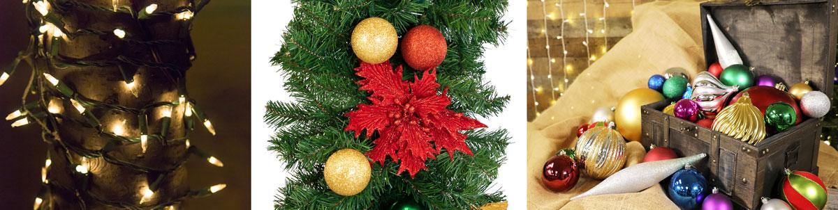 christmas decoration essentials lights poinsettias ornaments