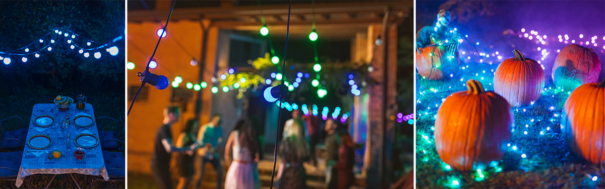 color christmas lights for events and occasions