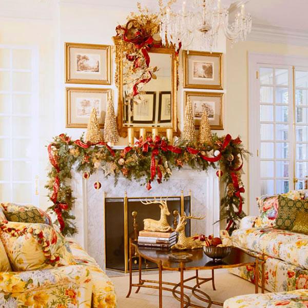 Vintage Mantel Decorating