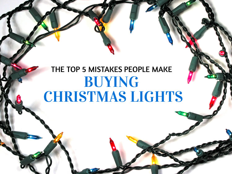 Top 5 Mistakes People Make Buying Christmas Lights