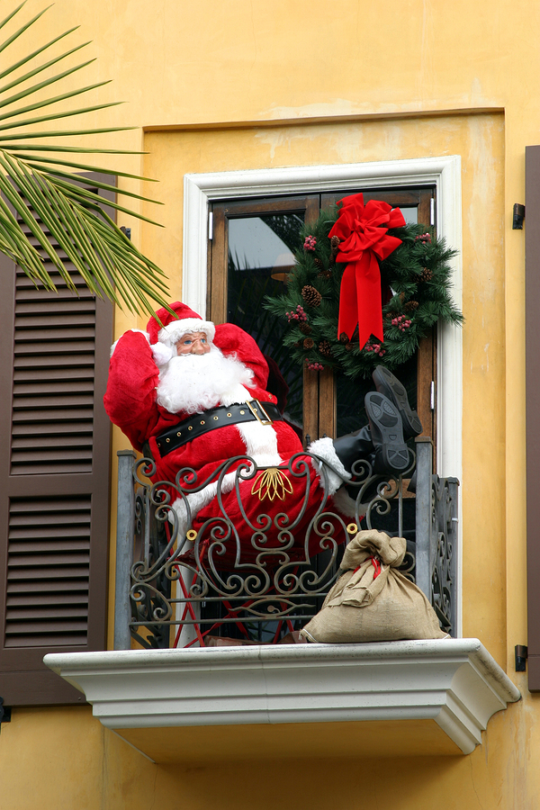 Santa on Apartment Balcony