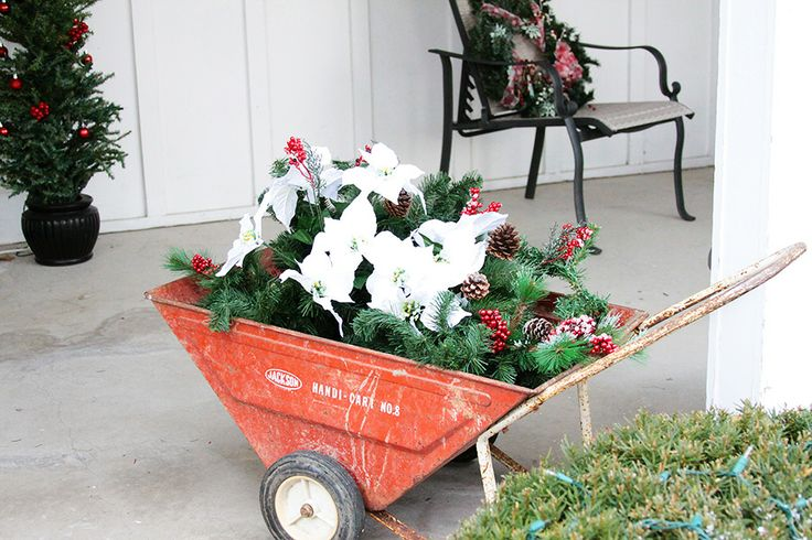 Christmas Wheelbarrow