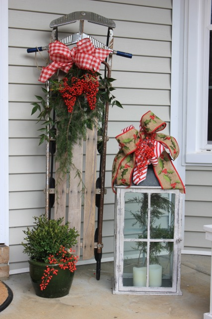 Outdoor Front Porch Christmas Decor