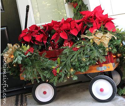 Red Christmas Wagon