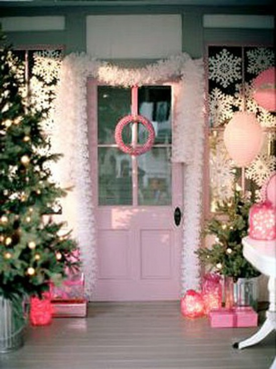 Pink & White Christmas Decor