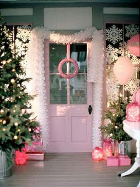 Pink & White Christmas Decor
