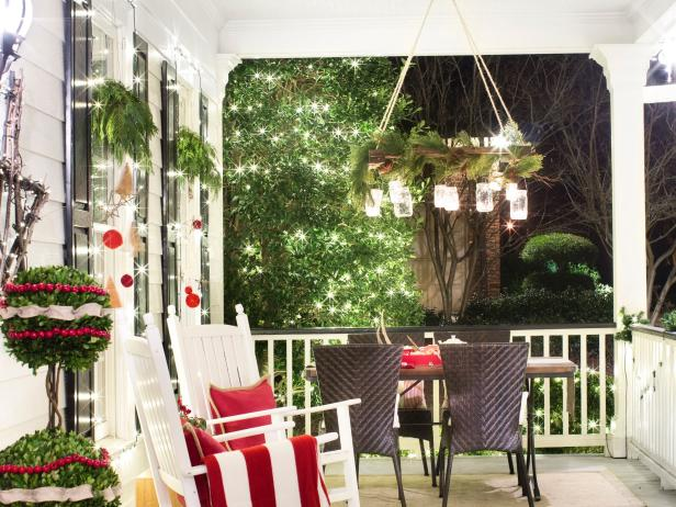 Porch Christmas Chandelier