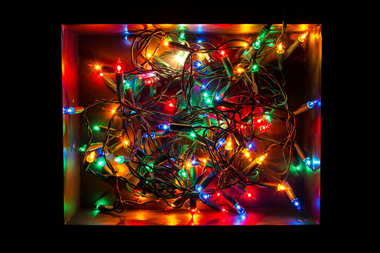 Christmas Lights Storage box