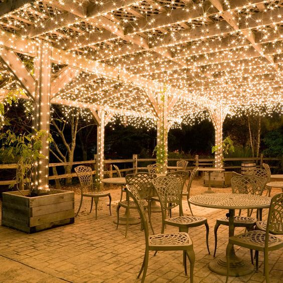... Canopy of Icicle Lights - 17 Ways To Light Up Your Pergola Christmas Designers