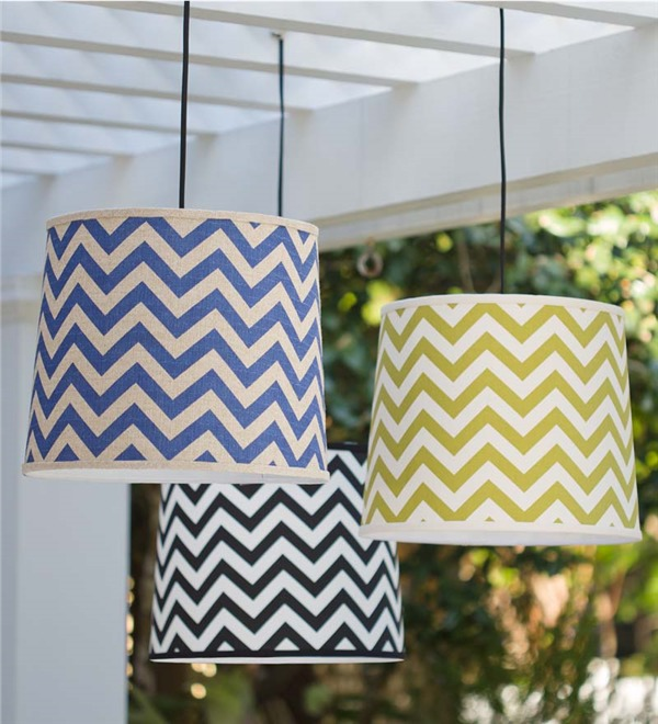 Hanging Drum Lights_Chevron