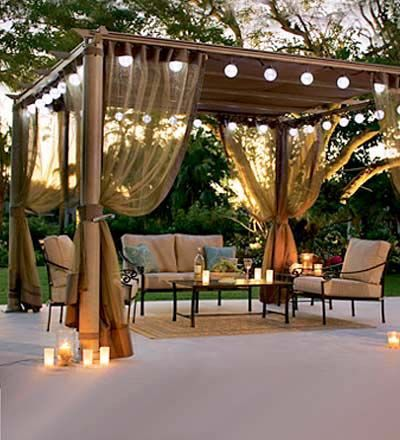 ... Perimeter Lights - 17 Ways To Light Up Your Pergola Christmas Designers