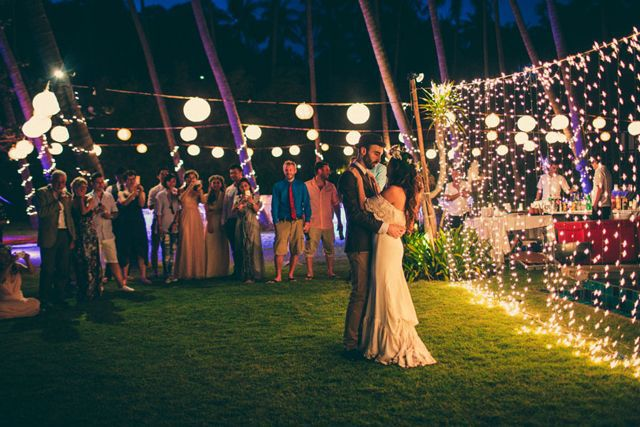 Outdoor Wedding Curtain Lights