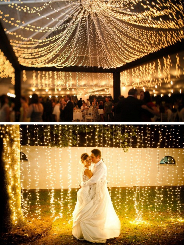 5 Popular Types of Outdoor Wedding Reception Lighting | Christmas ...