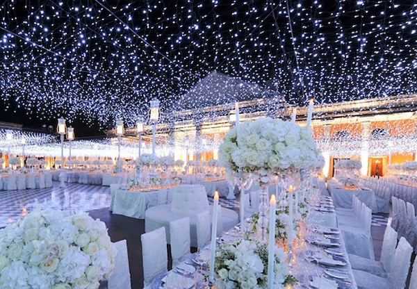 Wedding Ceiling made of lights