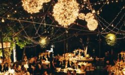 5 Popular Types of Outdoor Wedding Reception Lighting