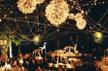 5 Popular Types of Outdoor Wedding Reception Lighting