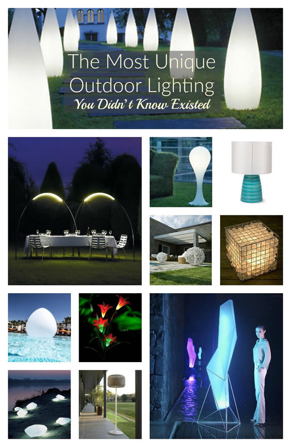 The Most Unique Outdoor Lighting