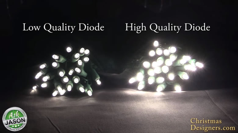 diode quality of christmas lights