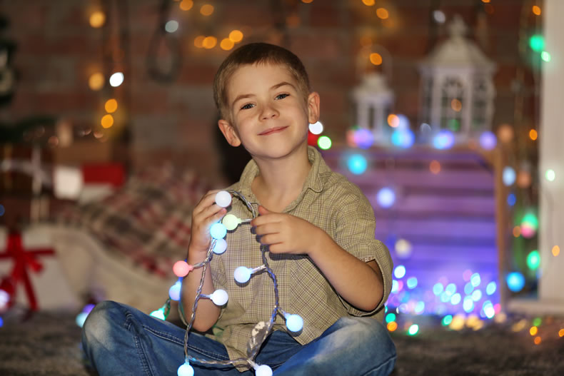 Christmas Lights and Kids