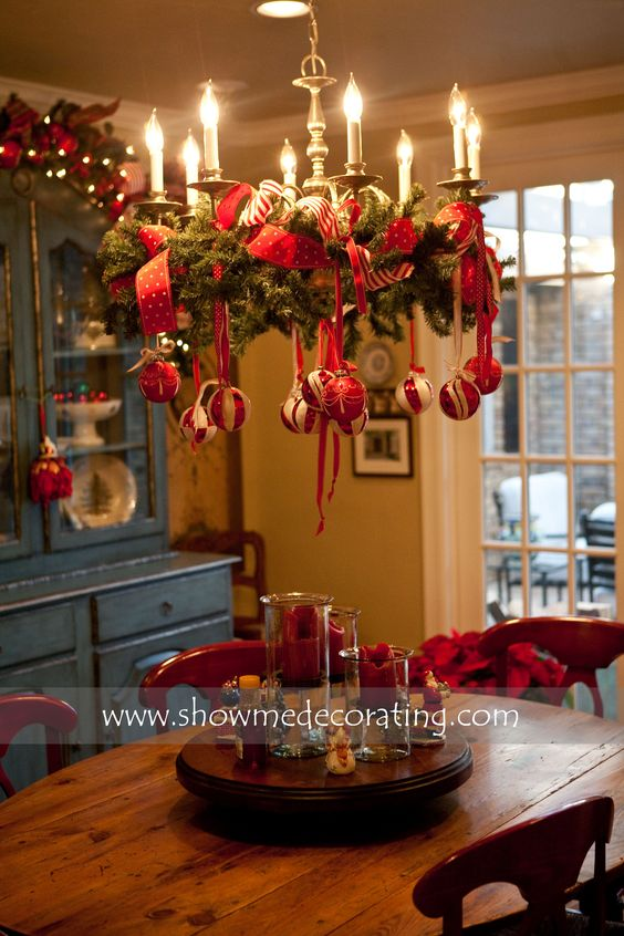 Christmas Wreath Chandelier