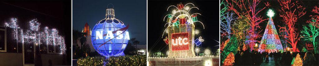 branding with christmas lights and displays
