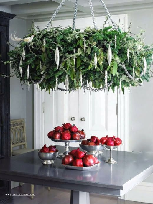 indoor christmas wreath chandelier