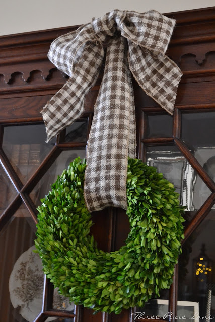 Dining Room Hutch Wreath