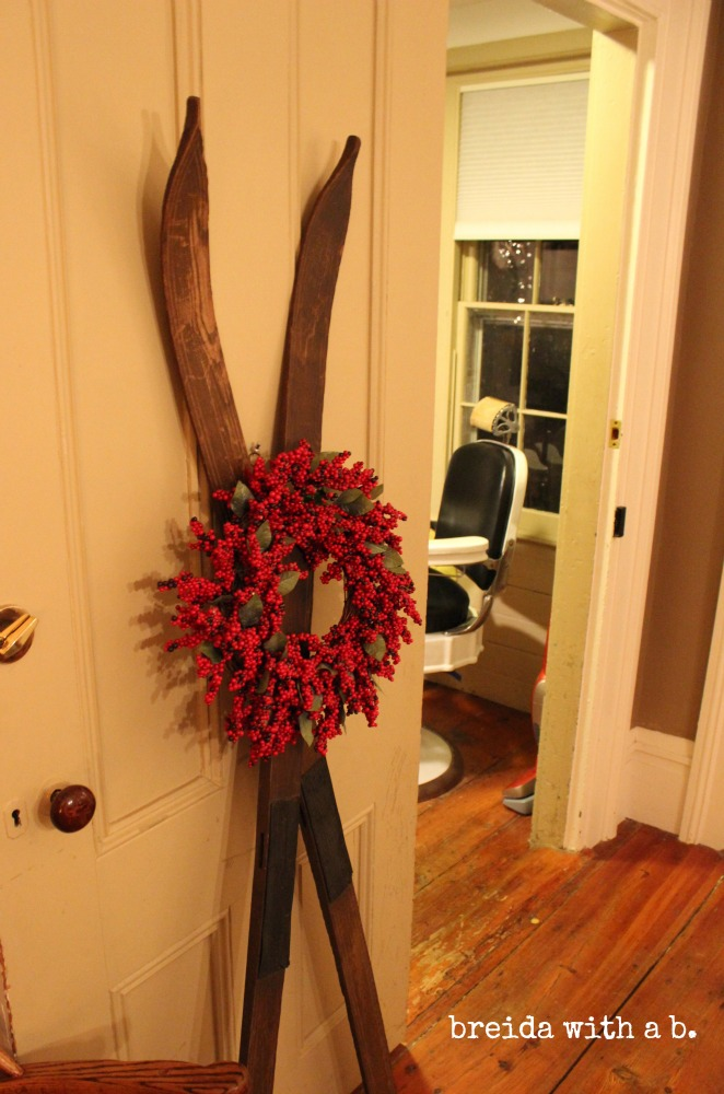 Wreath and Skis