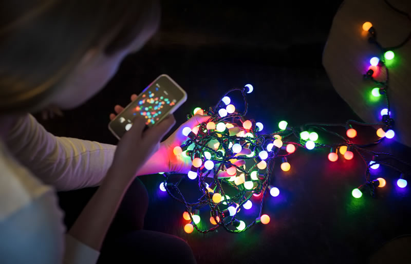 Indoor Photography of Christmas Lights