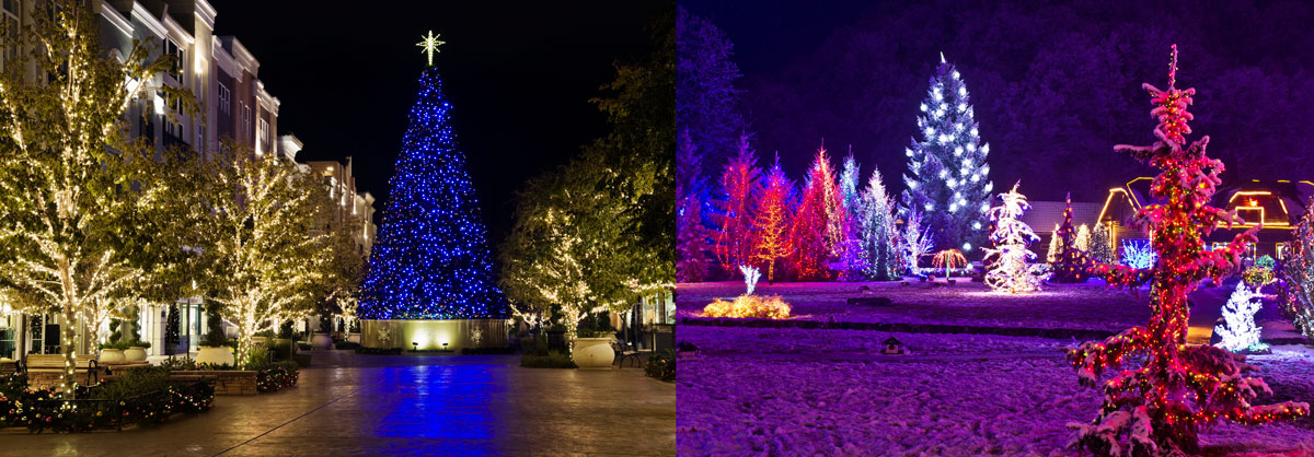 christmas light photography outdoors
