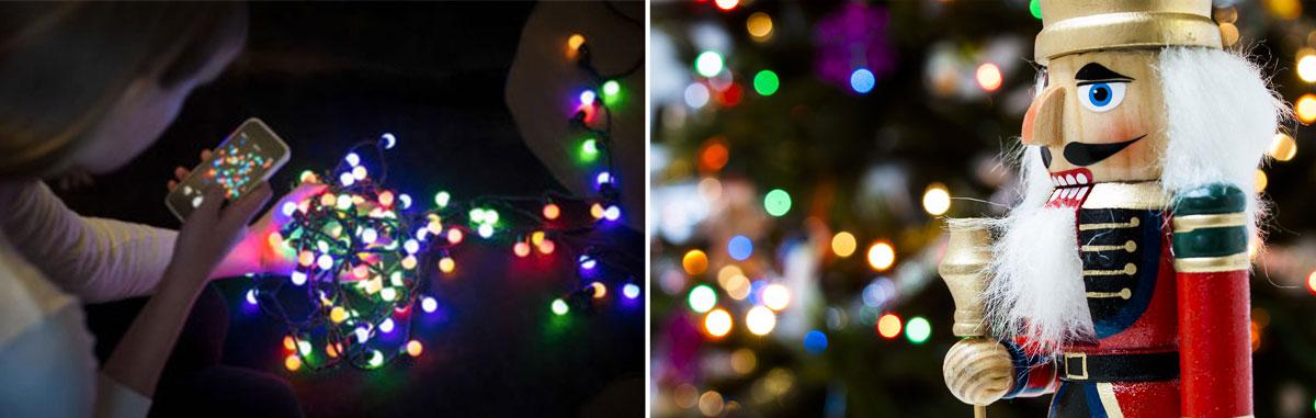 indoor christmas light photography