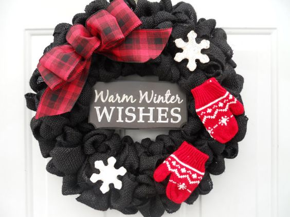 Black Winter Wreath