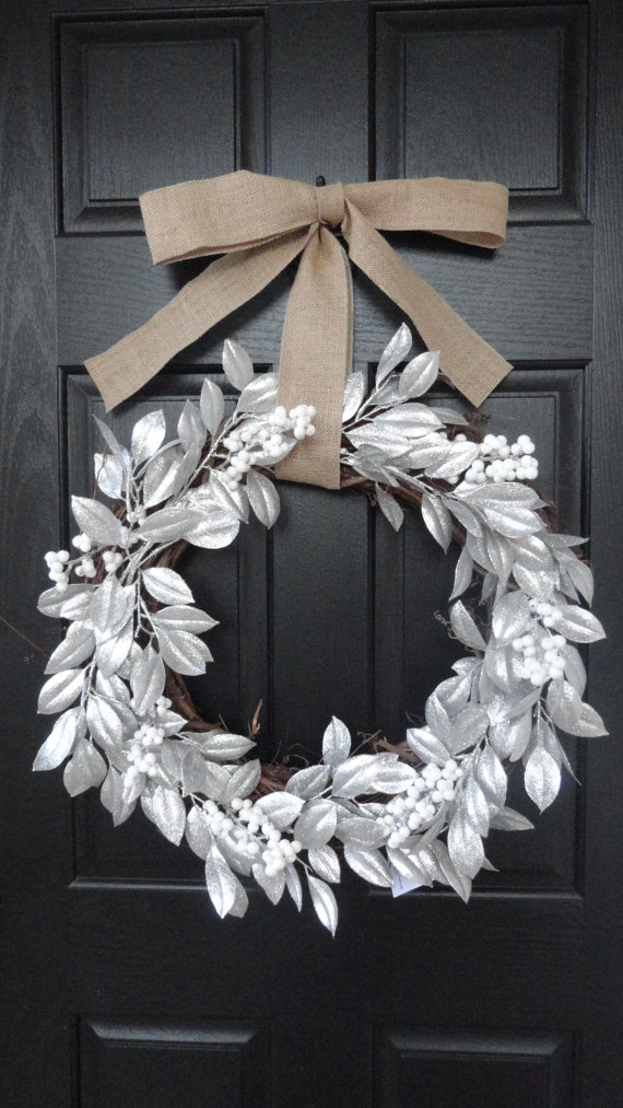 Silver Winter Wreath