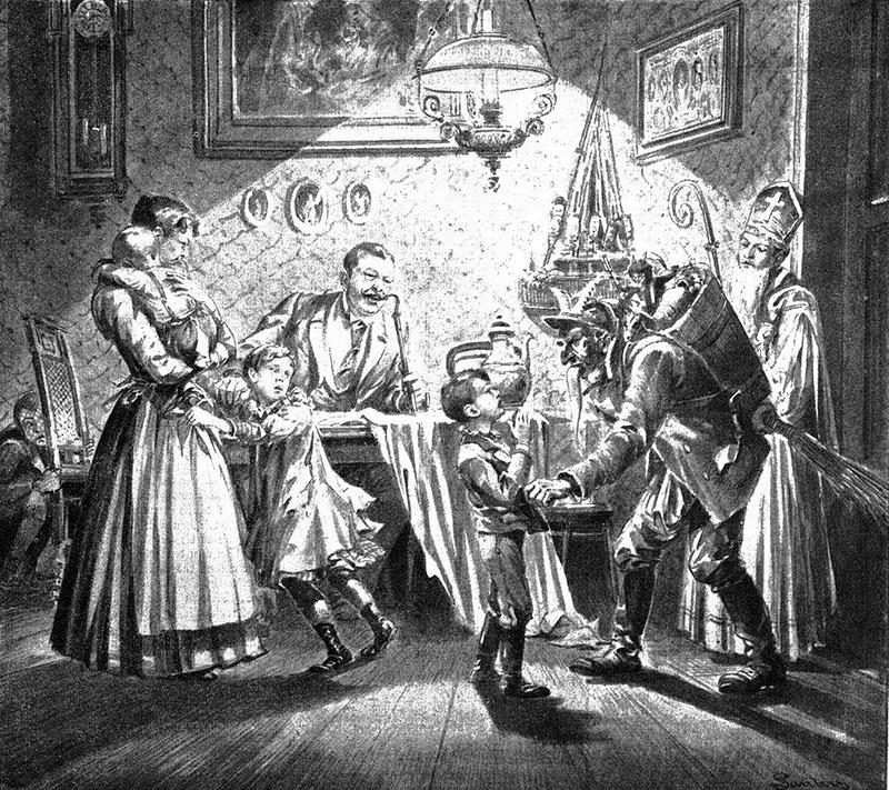 Nikolaus and Krampus 1896