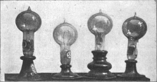First incandescent lights