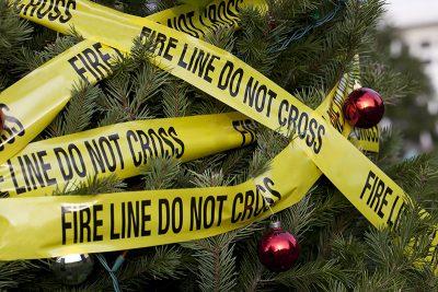 Christmas tree fire danger