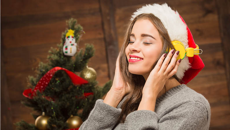 Listening to Christmas Music