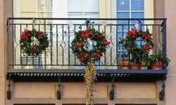 Decorating Your Apartment, Townhome, or Condo Balcony for Christmas