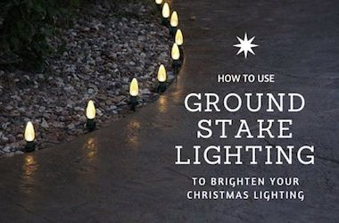 How to Use Ground Stake Lighting to Brighten Your Christmas Display