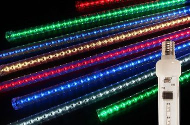 Decorating Outdoor Trees with LED Snowfall Tubes